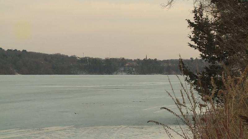 Lake Menomin in Menomonie, Wis.