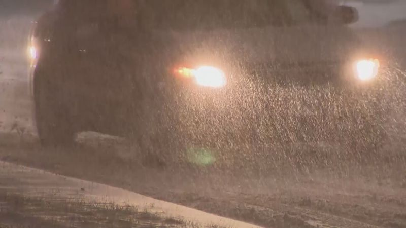State Patrol warns drivers to slow down and limit driving time when roads are slippery.