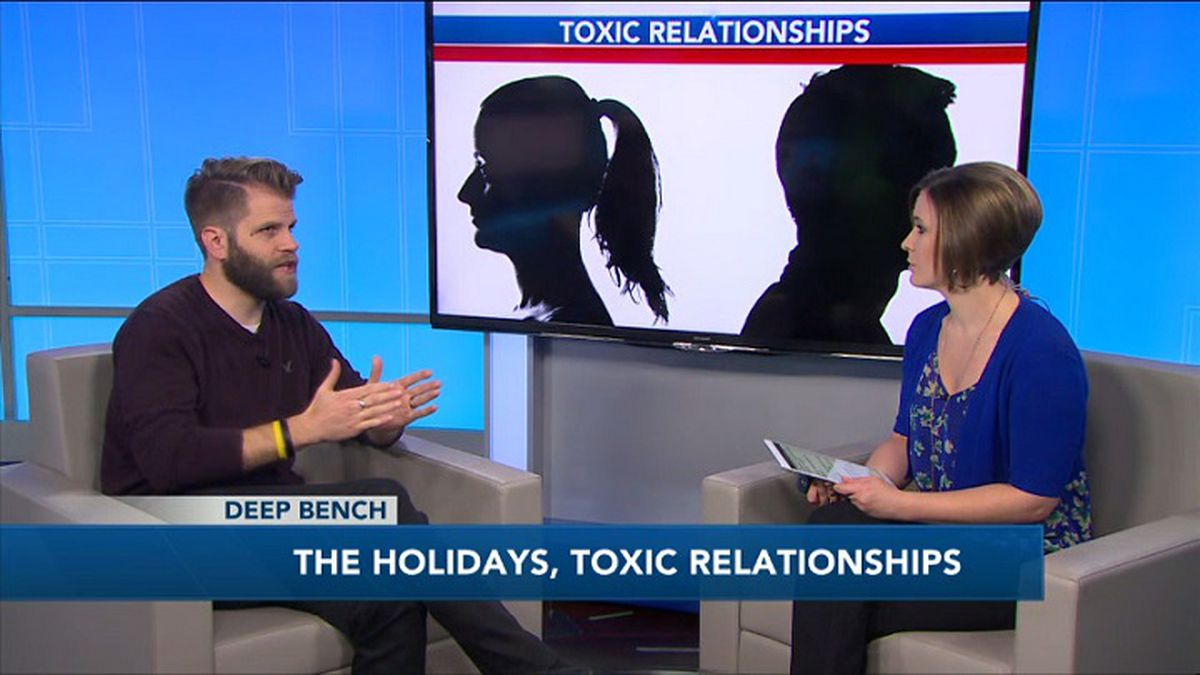 Brian Weiland talks to Holly Chilsen about how toxic relationships can impact holiday gatherings. (WZAW photo)