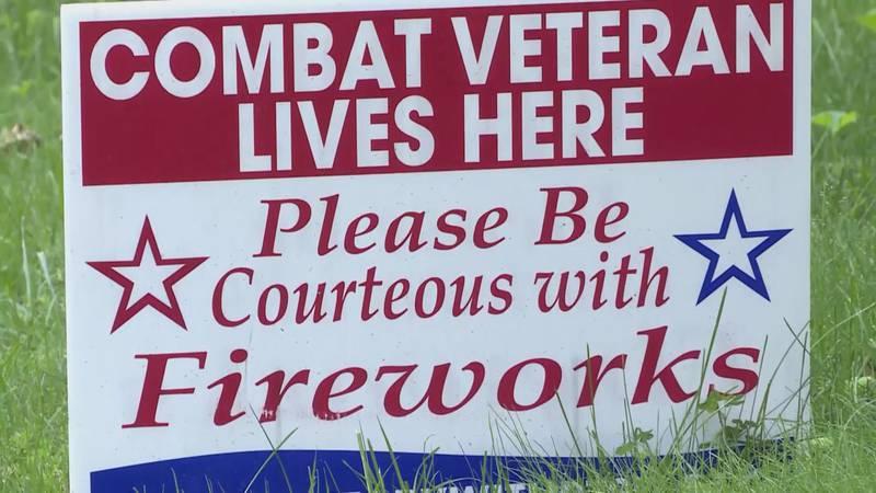 Yard signs can help warn neighbors of a vet's needs