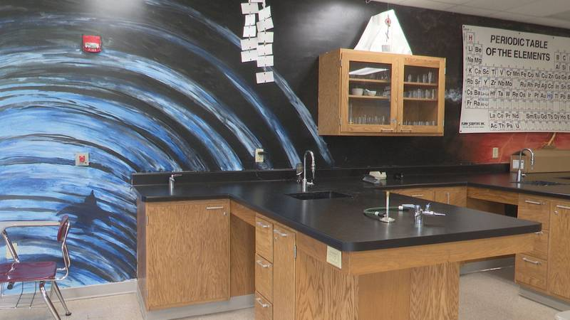Science lab at Wisconsin Valley Lutheran