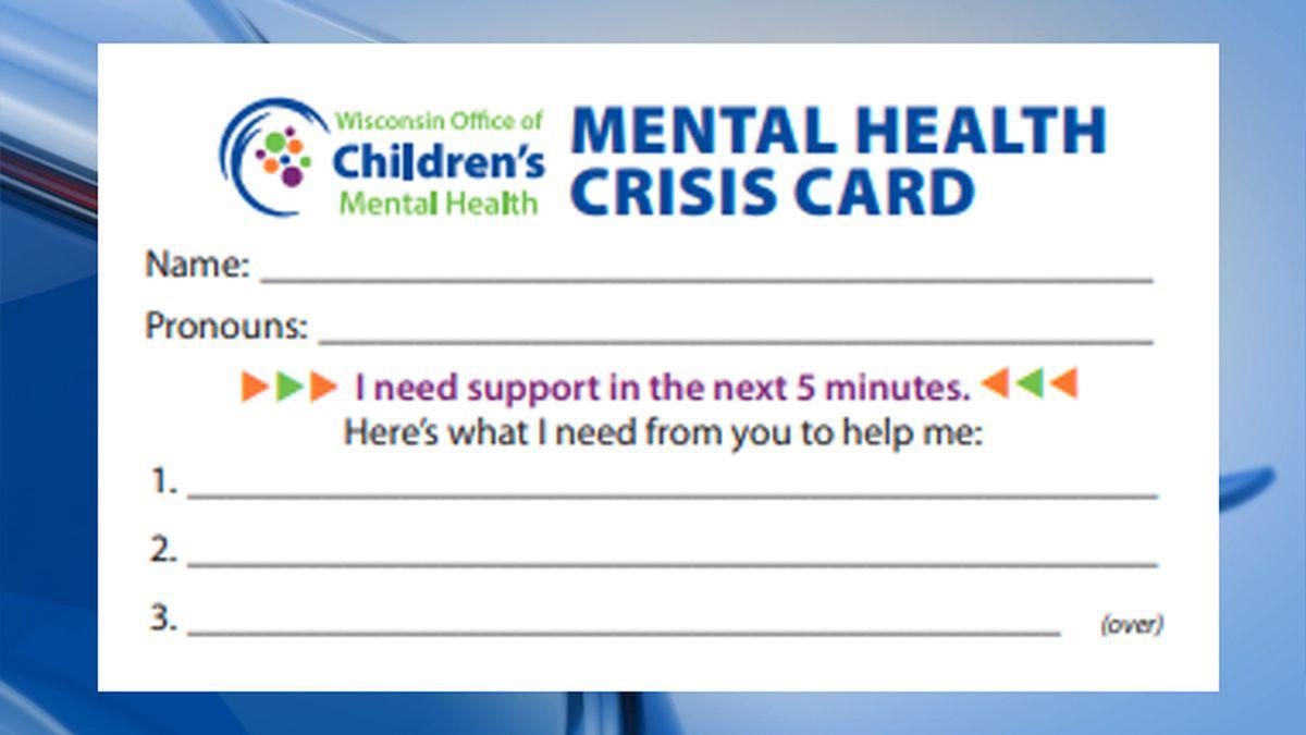 Mental Health Crisis Card