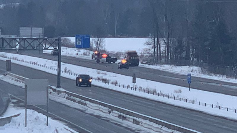 Crews respond to a crash in the southbound lane on US-51.