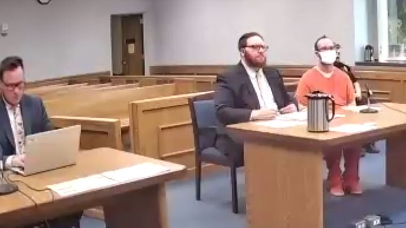 Aaron Hardy-Opper appears in Marathon County Circuit Court for a sentencing hearing on June 4.