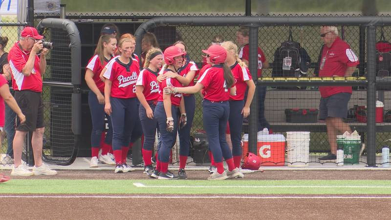 Pacelli softball falls 6-5 to Hurley at state.