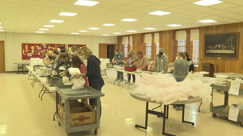 The First Presbyterian Church in Wausau celebrated Thanksgiving on Thursday by making and...