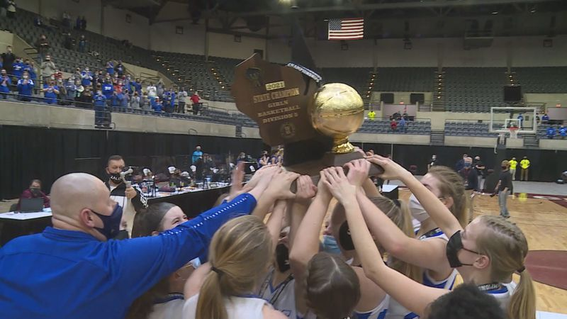 The Assumption Royals hoist the gold ball for the third time in program history, defeating...