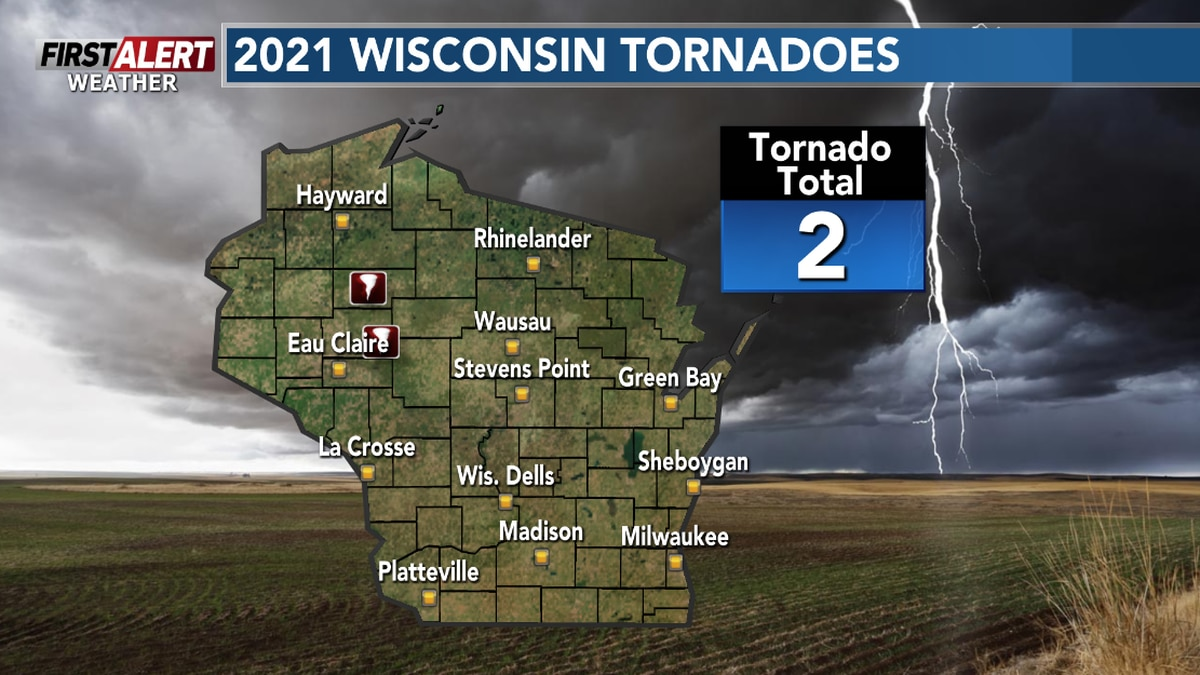 So far there have been two tornadoes in Wisconsin this year.