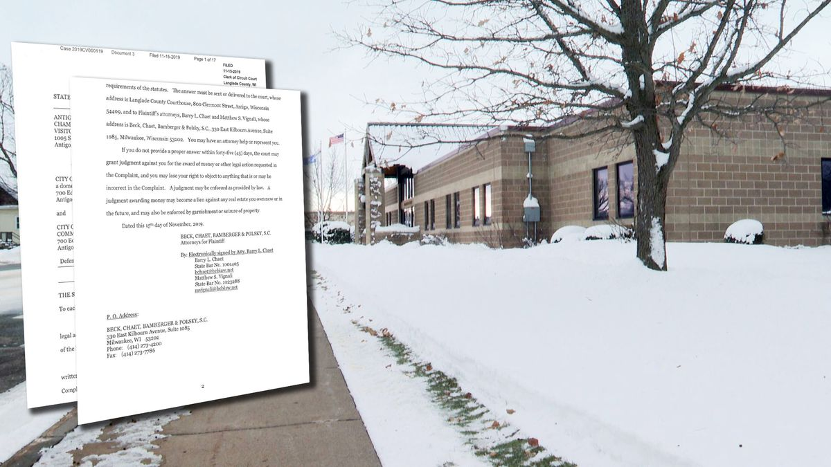 Antigo City Hall on Dec. 4, 2019 (WSAW Photo)