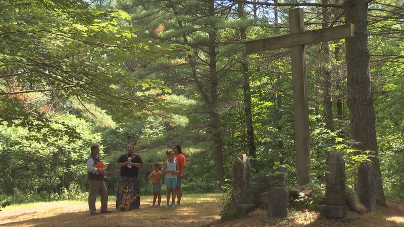 Menominee Tribal members say a number of unmarked graves are located near former residential...