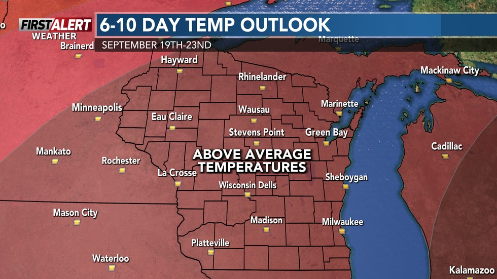 Above average temperatures heading into the weekend