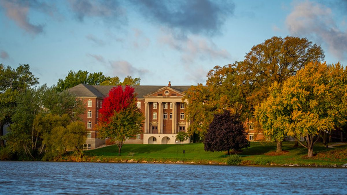 St. Norbert College campus seen from the Fox River (Photo: St. Norbert College, used with permission)