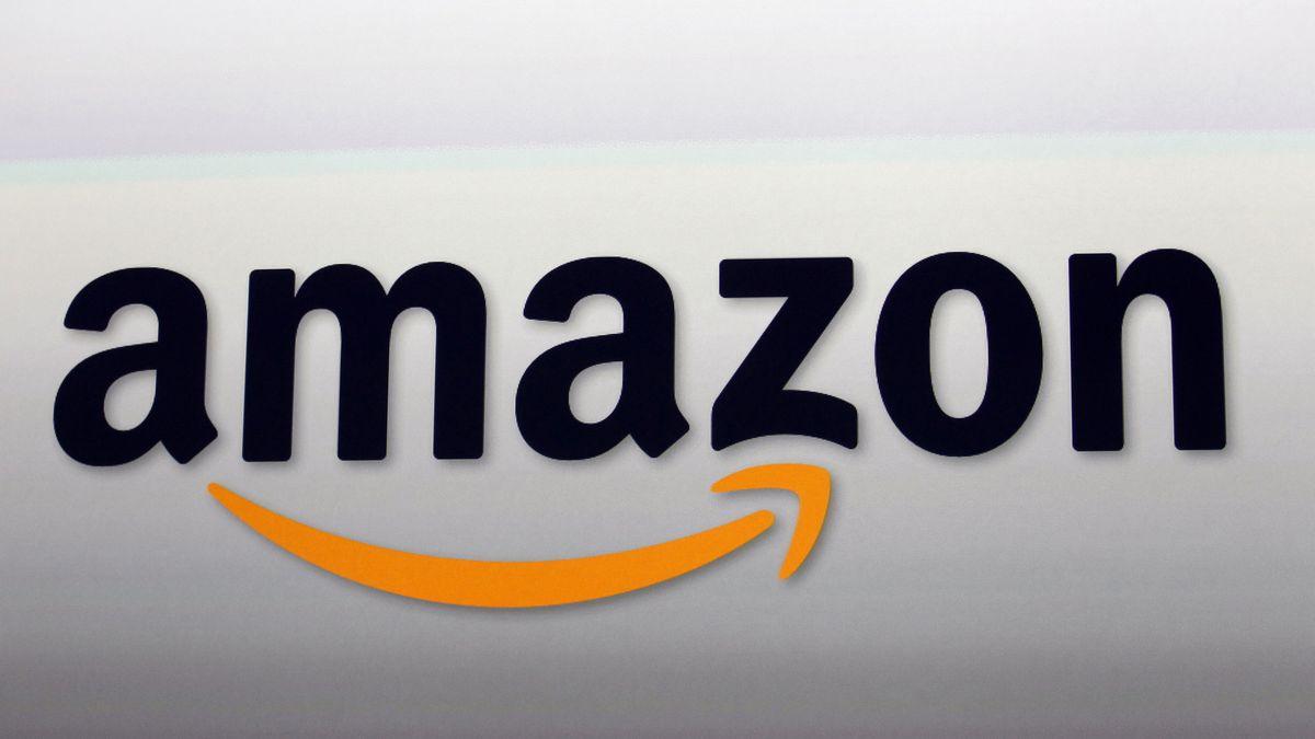 FILE - This Sept. 6, 2012 file photo shows the Amazon logo in Santa Monica, Calif.