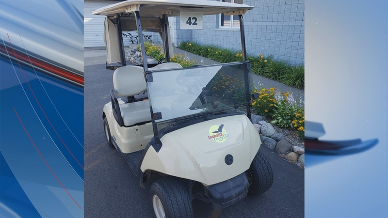 Golf cart stolen from Northwoods golf course.