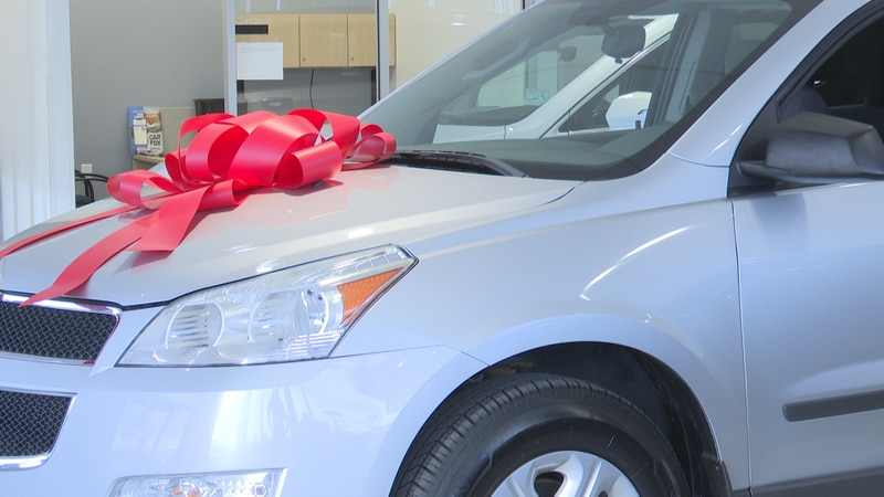 The 2011Chevy Traverse was given with the organization raising $3,000.