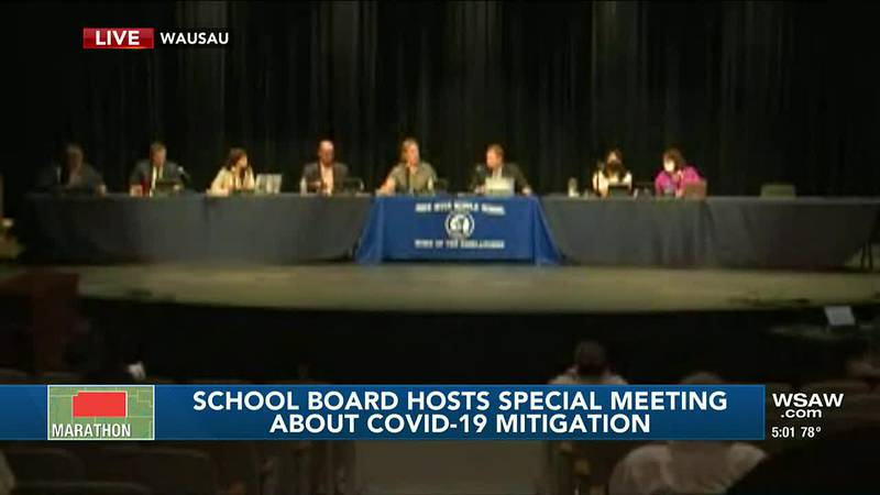 Wausau School Board holds special meeting to discuss COVID-19 mitigation
