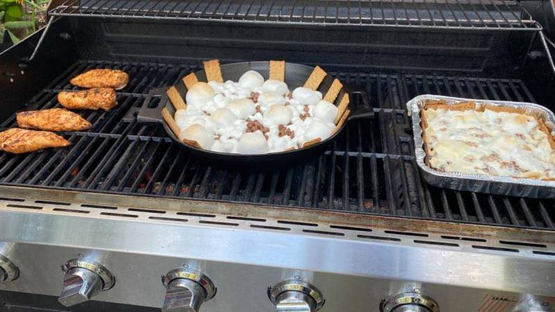Garlic Chili Lime Chicken and Grilled S'mores Nachos