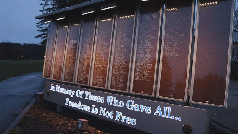 A ceremony will be held outside at the Veterans Memorial Wall inviting the whole community to...