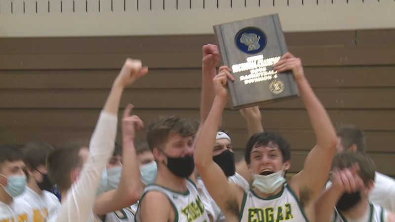 Edgar boys basketball clinches state tournament birth.