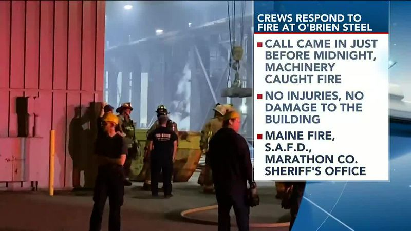 Crews Respond To Fire At O'Brien Steel