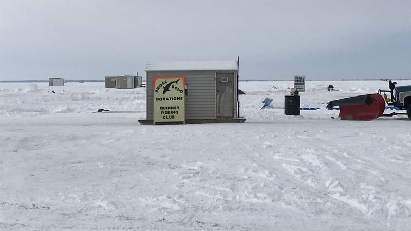 Shanties are starting to line the shore of Lake Winnebago in anticipation for the opening of...