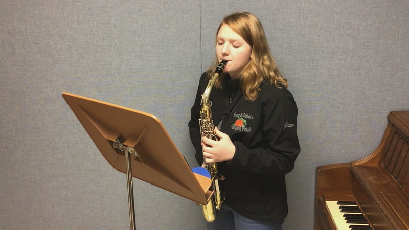Merrill band student is sending her video to the WSMA band festival.