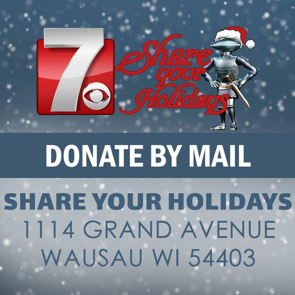 You can make donations by mail