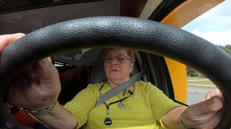 Midge Abt has been driving a school bus for 50 years.