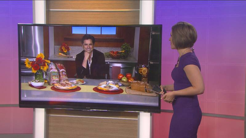 John Stamos talks to Holly Chilsen on Sunrise 7 about eating healthy despite busy schedules