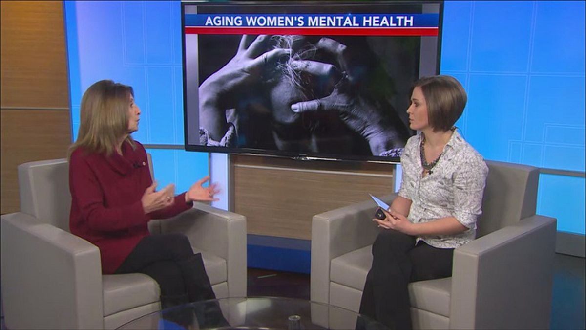 Counselor Judy Lemke talks about the connection between menopause and mental illness (WZAW photo)