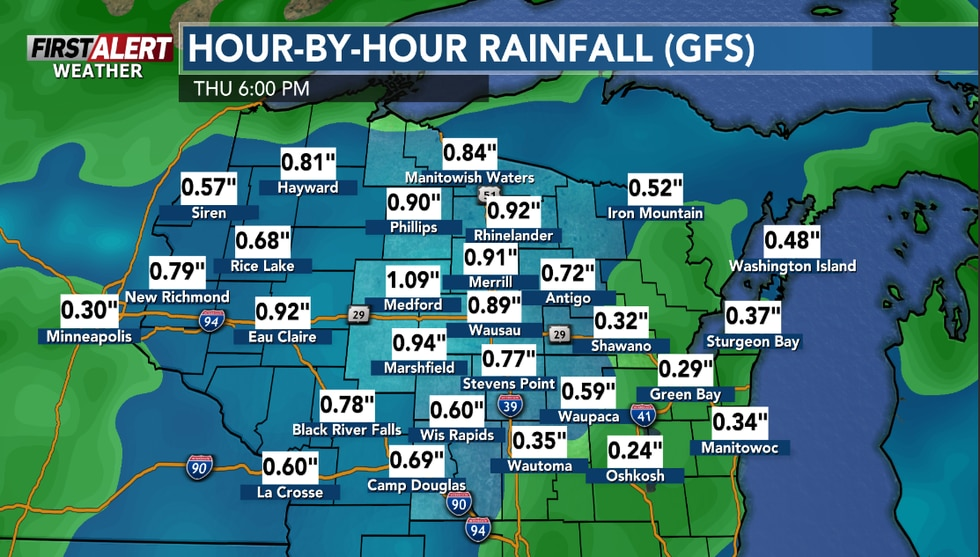 Over the next few days a half inch to one inch of rain could.
