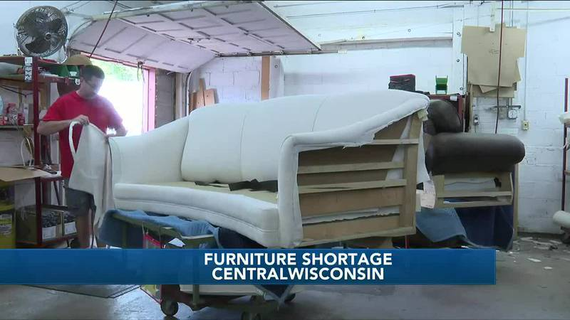 Shortage of furniture caused by high demand, raw material delays
