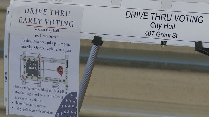 Wausau will offer drive-thru voting for its residents October 23 and 24.