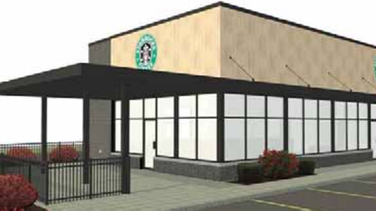 Renderings show what the proposed Wisconsin Rapids Starbucks location could look like.