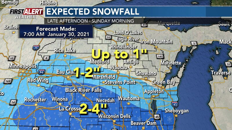 Heaviest snow will fall in the southern part of Wisconsin