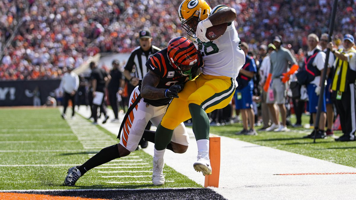 HALFTIME: Rodgers throws two touchdowns, Packers lead Bengals 16-14