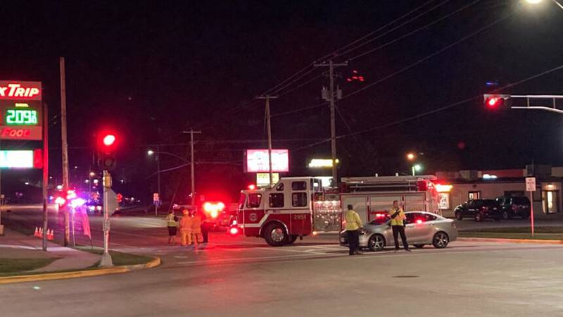 Multiple roads are blocked off in Mayville, Wisconsin due to a large police presence.