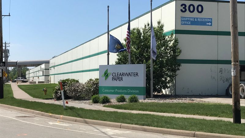 Clearwater Paper plant in Neenah