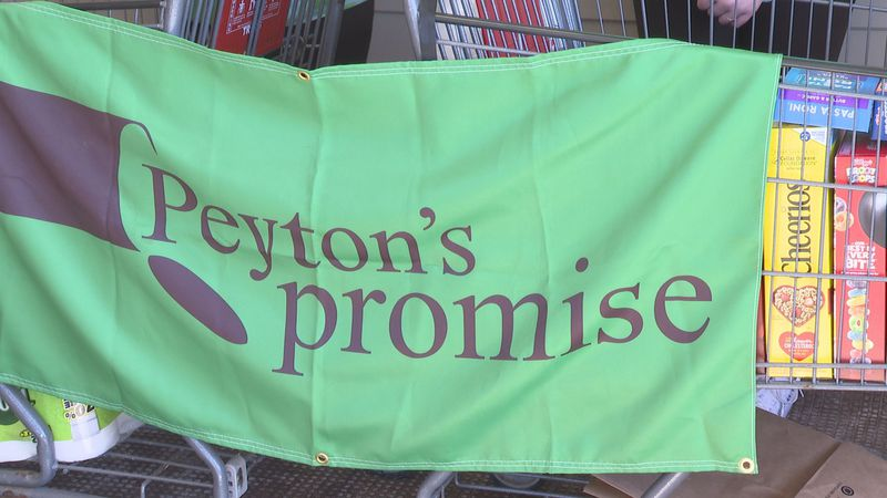 Peyton's Promise works to collect pantry items for local nonprofits