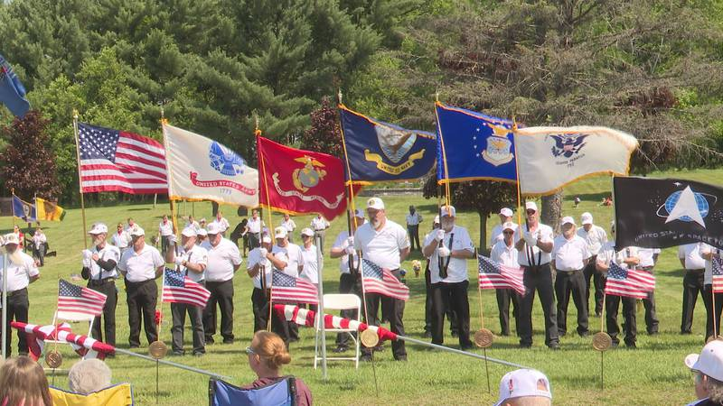 Flags represent branches of United States military