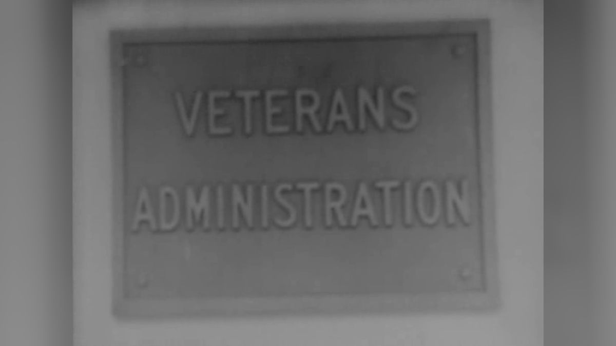 Old sign for VA