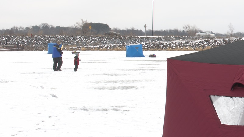 Many anglers took to the ice Sunday for their first weekend of the season.