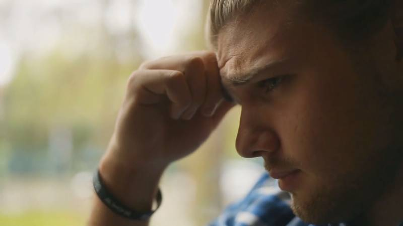 Man struggling with mental health issues
