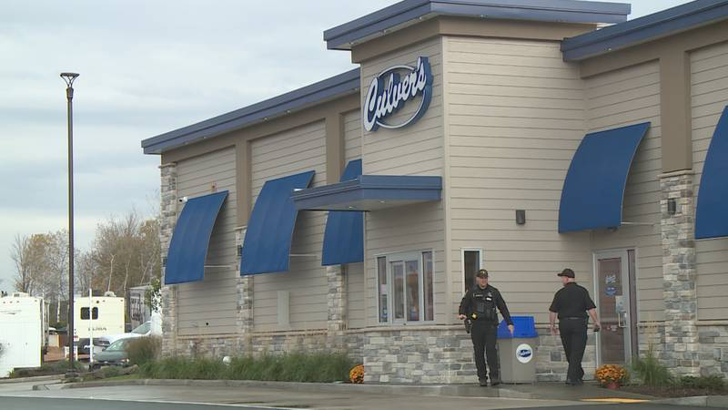 """Law enforcement helped hand out orders to customers as part of the """"Cops at Culver's"""" Day"""