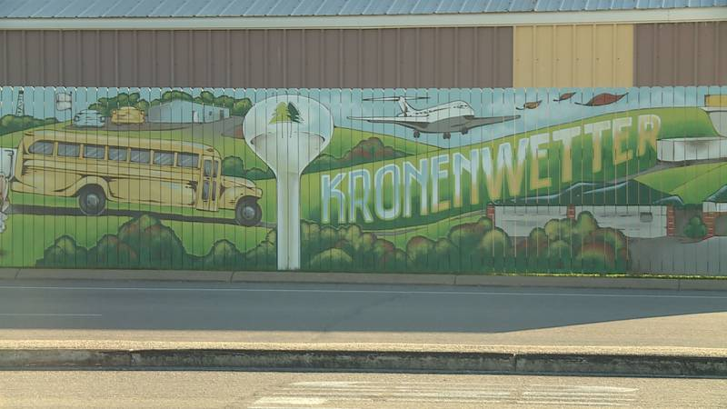 What was once a blank sound wall, is now a beautiful canvas for the people of Kronenwetter. The...