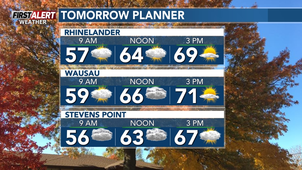 Temperatures will rebound to normal Sunday. Nearly 10-degrees cooler.