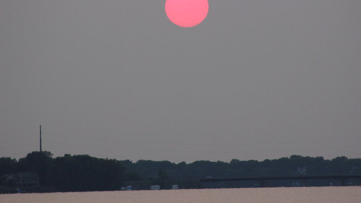 Smoke from the wildfires in Canada is bringing fine particle pollutants to the air in...