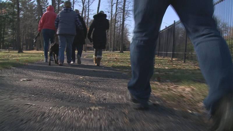 Remembrance walk at Marathon Park for veteran suicides.