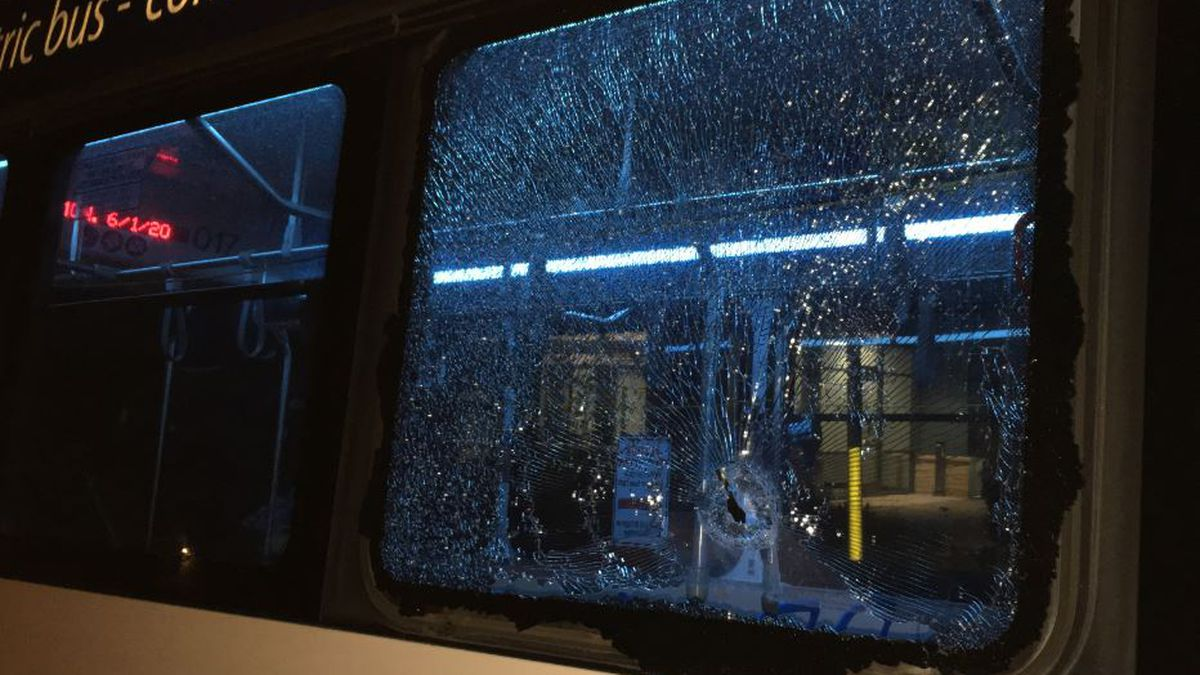Photo of damage caused by protesters courtesy Madison Police Department