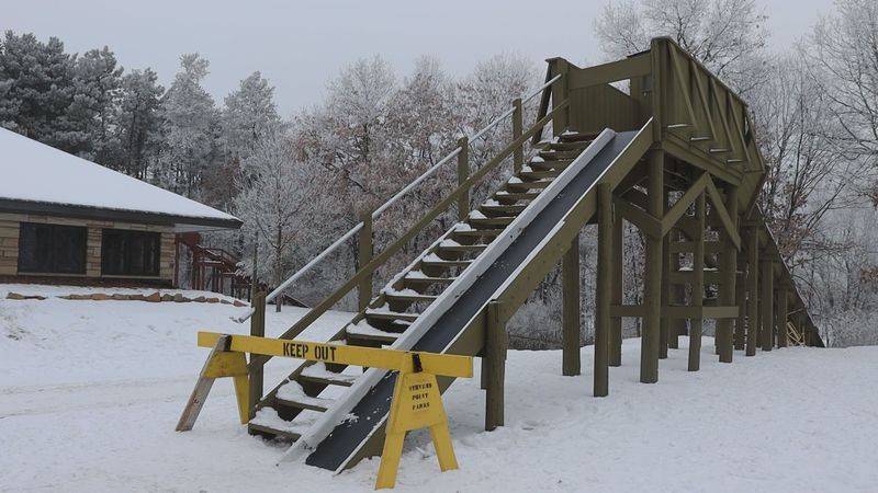 When riding a toboggan all riders must straddle each other, and be closely looked at the...